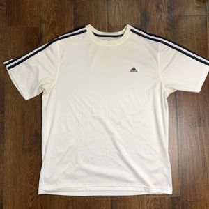 Adidas Workout Soccer Active Lifestyle White Shirt